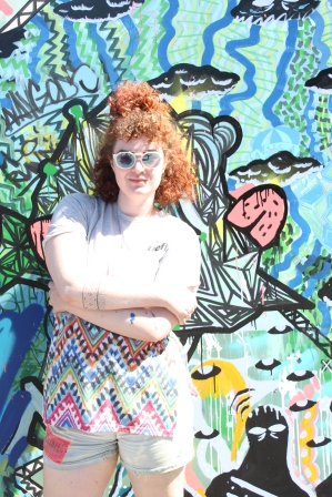 Cydney Eva from MANIA MAG at the Oasis Chillout Zone at Van Mural Fest